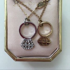 Juicy Couture two toned, silver/gold ring necklace